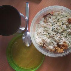Frau Jupiter tischte gleich zweimal Reis auf. Zunächst diese Portion getoppt mit Sojajoghurt...  http://fraujupiter.blogspot.de/2015/01/vegan-wednesday-123.html
