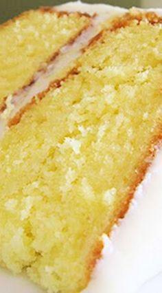 Lemonade Cake with Lemon Cream Cheese Frosting (layered poke cake) - Desserts - Kuchen Lemon Desserts, Köstliche Desserts, Lemon Recipes, Sweet Recipes, Baking Recipes, Dessert Recipes, Lemon Cakes, Coconut Cakes, Frosting Recipes