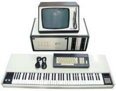 """The Australian Fairlight Computer Music Instrument (CMI) is a vintage but state-of-the-art Synthesizer/Sampler workstation. An incredible sampler with 28 megabytes or more of memory! One or two full 73 note velocity sensitive keyboards! Complete synthesis and editing of digitally sampled sounds. Three different on-board SMPTE Sequencers and storage to various disk mediums. The processor itself is housed in a 24"""" module."""