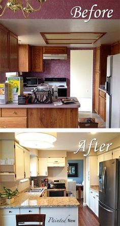 37 brilliant diy kitchen makeover ideas page 4 of 8 from Painting Cheap Kitchen Cabinets Home Kitchens, Home, Cheap Kitchen Cabinets, Kitchen Design, Kitchen Cabinets Makeover, Trendy Kitchen, Cabinet Makeover Diy, Outdoor Kitchen Countertops, Kitchen Diy Makeover