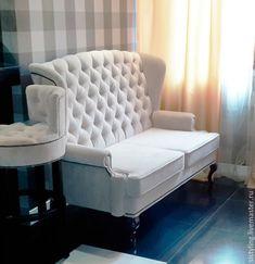 Купить Диван - комбинированный, массив бука, каминный диван, диван с ушами, английский стиль
