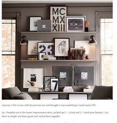 picture shelving, inspired by charm