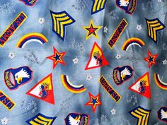 Hey, I found this really awesome Etsy listing at https://www.etsy.com/listing/150646467/vintage-denim-like-fabric-us-army-stars