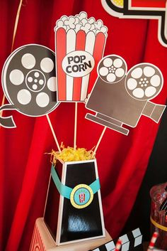 Lights, Camera, Birthday! A Hollywood Movie Party. | CatchMyParty.com
