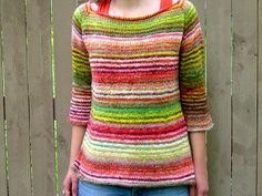 The Art Teacher Sweater  in Noro Taiyo  I couldn't decide to pin this to Color! or Knit this...
