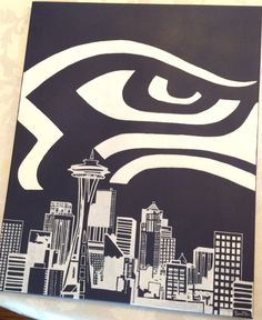 Seattle Seahawks Skyline by Etwo on Etsy