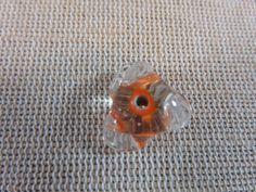 Perles verre, perles hélice, perles Lampwork, perles orange 15mm, perles de verre, perles pour bijoux, orange translucide, perle hélicoïdale de la boutique ArtKen6L sur Etsy