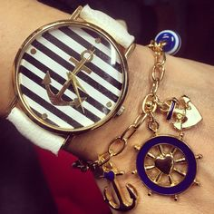 Anchor watch blue navy
