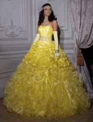 fa241684d34 Wholesale new sweet 15 dress yellow taffeta organza quinceanera ball gown  with… Robes Quinceanera