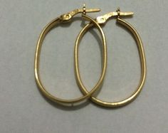 brinco argola oval ouro