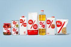 Дизайн упаковки для сети супермаркетов Al Market