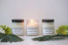 Japanese Yuzu Soy Candle // Mason Jar Candle // Candles //