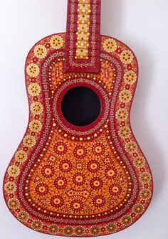Moroccan Painted Guitar. via Etsy.