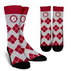 Alabama Crimson Tide Dress Socks Deans List Crew Length Socks