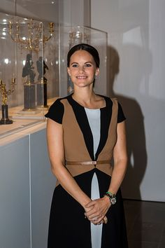 Princess Sofia of Sweden attends the opening of the 'Porphyry The Royal Stone' exhibition at SvenHarrys art museum on September 27 2016 in Stockholm...