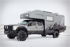EARTHROAMER XV-LT | For a mere $400,000 - 500,000, I can get me one of these solar powered, all-terrain RVs....