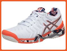 5e88436de556 ASICS E765Y-0193F17 Women`s Gel-Resolution 7 Limited Ed London Tennis Shoes