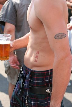 beer and kilt