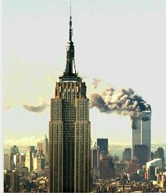 New York Architecture Images- State Building and attack on World Trade Center World Trade Center Nyc, Trade Centre, 11 September 2001, Remembering September 11th, New York Architecture, Architecture Images, Beautiful Buildings, Tours, Empire State Building