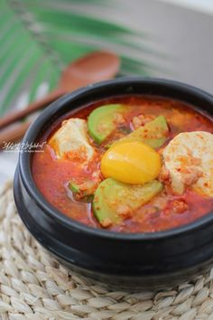 Korean Food, Soups And Stews, Deserts, Cooking Recipes, Ethnic Recipes, Foods, Drink, Party, Chef Recipes