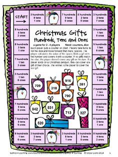 Christmas Math Games Second Grade by Games 4 Learning for bringing some fun, Christmas math into the classroom. $