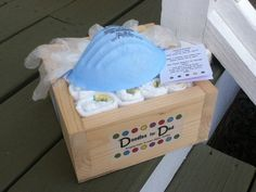 Diaper gift for a new dad: each diaper has a message geared specifically for dads! on Etsy, $20.00