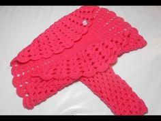 ▶ Bolero Croche Infantil manga - Crochet Bolero very easy - Ganchillo Bolero - YouTube