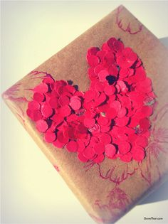Cute heart wrapping