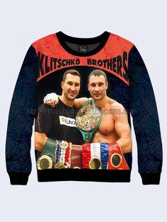 Mens 3D-print sweatshirt - Brothers Klitschko.  #Menshoodie #malesweater #youthfulsweatshirt #3Dprintimage #cardigan #pullover #Longsleeve #hoody #BrothersKlitschko