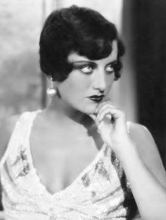 "Twenty-three year old Joan Crawford during her silent movie ""flapper"" era, 1928."