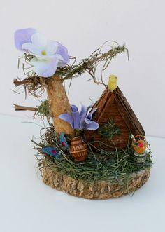 Miniature Fairy Garden Fairy House Woodland Fairy by AbateArts, $12.00