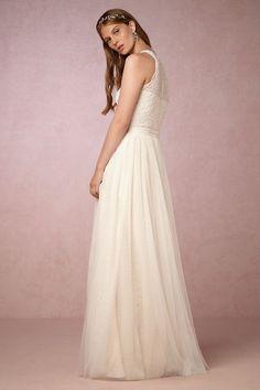 Ivory/cream Carmela Gown   BHLDN