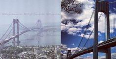 The Verrazano-Narrows Bridge was named after Giovanni da Verrazano, who, in was the first European explorer to sail into New York Harbor. New York Harbor, Nyc Skyline, George Washington Bridge, Back In The Day, Golden Gate Bridge, New York City, Sailing, To Go, Explore