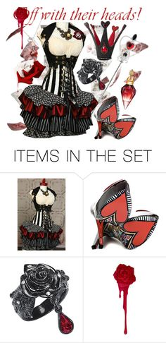"""Steampunk Queen of Hearts"" by darkandfallenangel ❤ liked on Polyvore featuring art"