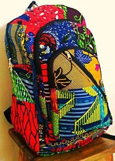 African Print Backpack by KarangisCollections on Etsy Fabric Handbags, Fabric Bags, African Inspired Fashion, African Fashion, African Outfits, Kitenge, Style Afro, Ankara Bags, Nigerian Dress