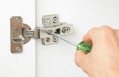 how to adjust door hinges Door Hinges, Doors, Concealed Hinges, Door Design, How To Plan, Household Tips, Cabinets, Diy, Hidden Hinges