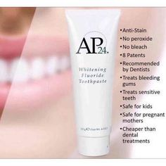 AP 24 Anti-Plaque Fluoride Toothpaste uses a safe, gentle form of fluoride to remove plaque and protect against tooth decay. Ap 24 Toothpaste, Whitening Fluoride Toothpaste, Teeth Whitening, Stained Teeth, Oral Hygiene, Beauty Secrets, Nu Skin, Bossbabe, All About Mom