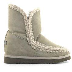 MOU Eskimo Wedge Short Boots Women Corda - MOU