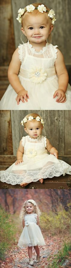 Victorian Gardens Tulle Lace Dress with Pure Paradise Sash - Ivory Winter Bridesmaid Dresses, Winter Bridesmaids, Best Wedding Dresses, Pretty Flower Girl Dresses, Lace Flower Girls, White Wedding Flowers, White Bridal, Vintage Inspired Dresses, Vintage Dresses