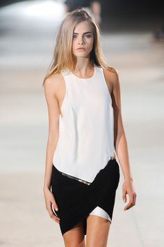 Cara Delevingne for Anthony Vaccarello Spring/Summer 2013