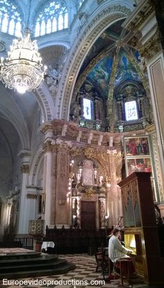 Inside the Valencia Cathedral in Spain