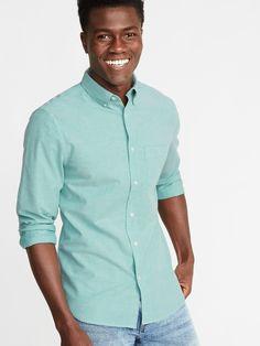 Slim-Fit Built-In Flex Everyday Oxford Shirt For Men