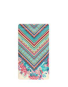 Floral Folk Print Soft Sunglasses Case