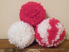 3 New Holiday Handcraft Yarn Pompom Ball Cat Toys for by 3JsStuff, $2.75. Perfect for Valentine's Day for your favorite furry friend!!