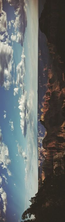 I choose this panoramic photo because it emphasizes the breath taking scenery and canyon. Oh The Places You'll Go, Places To Visit, Beautiful World, Beautiful Places, The Journey, To Infinity And Beyond, Adventure Is Out There, Photomontage, Belle Photo