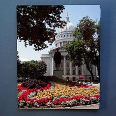 Wisconsin capitol building metal print Madison by RVJamesDesigns, $49.95