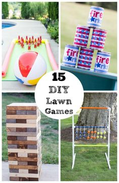 Does summer have you feeling torn between your love of the outdoors and your love of board games? No need to worry- these DIY lawn…