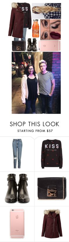"""Meeting A Fan In London With Fiance Niall"" by glitterbelle11 ❤ liked on Polyvore featuring Topshop, Zoe Karssen, Yves Saint Laurent and Furla"