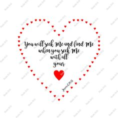 Digital Cut File, You will seek Me, Vinyl Cutting File, svg, png, eps, dxf - Silhouette, Cameo, Make the Cut, Sure Cuts a Lot, Cricut by StudioSVG on Etsy