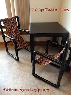 PVC Toddler Chairs - DIY for cheap